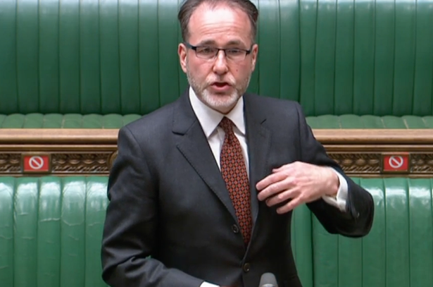 Housing Minister Christopher Pincher was not a happy bunny