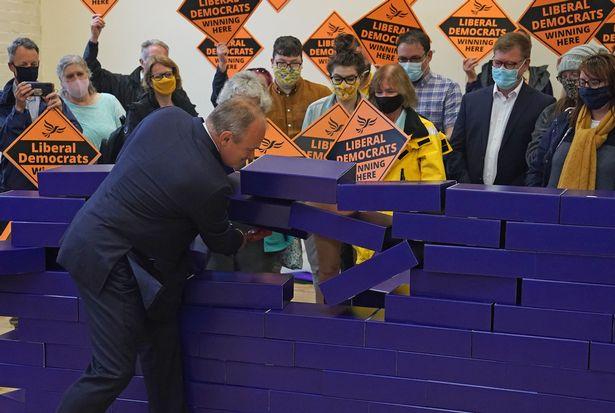 Ed Davey knocks down the blue wall