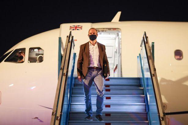 Dominic Raab arrived in Hanoi, Vietnam, yesterday