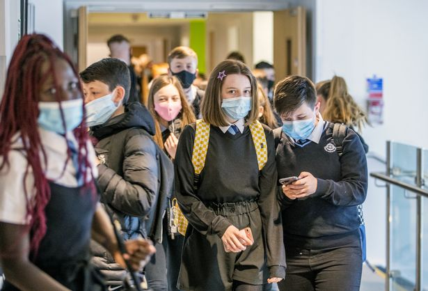 Secondary pupils were required to wear masks in schools during the latest national lockdown
