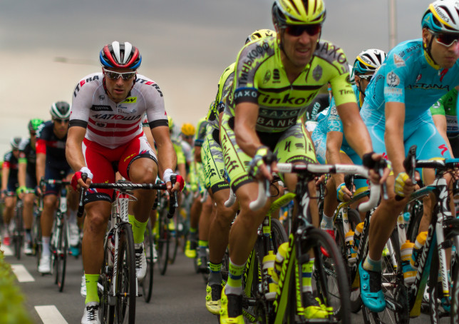 Cyclists taking place in Tour de France 2015