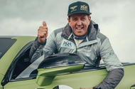 rhys millen celebrates breaking pikes peak hill climb production car record in continental gt