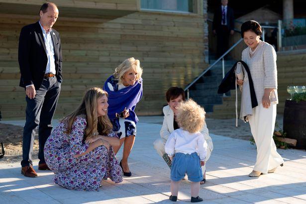 Wilfred was seen toddling towards First Lady Jill Biden