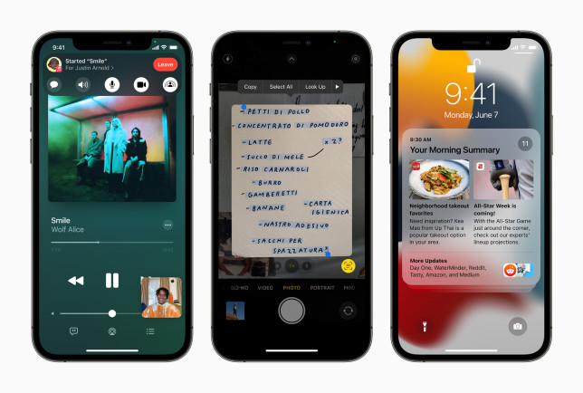 iOS 15 is the latest version of the iPhone OS (Apple)