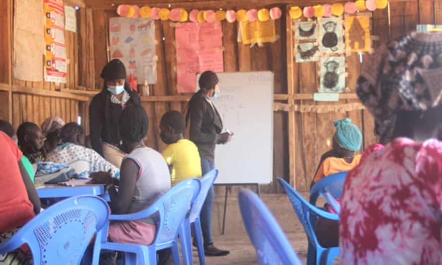 The girls in a catch up education centre in Isiolo, Kenya