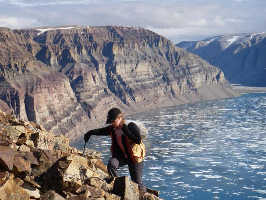 Prof Elizabeth Turner on northern Baffin Island, Nunavut