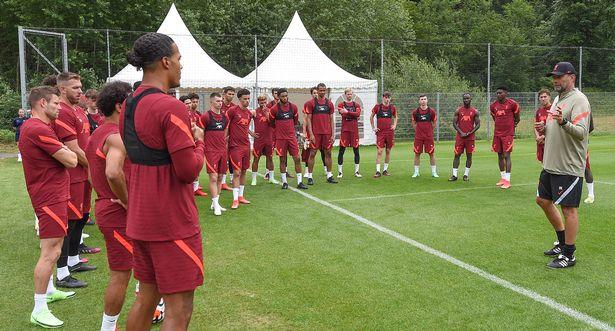 Jurgen Klopp oversees a Liverpool training session