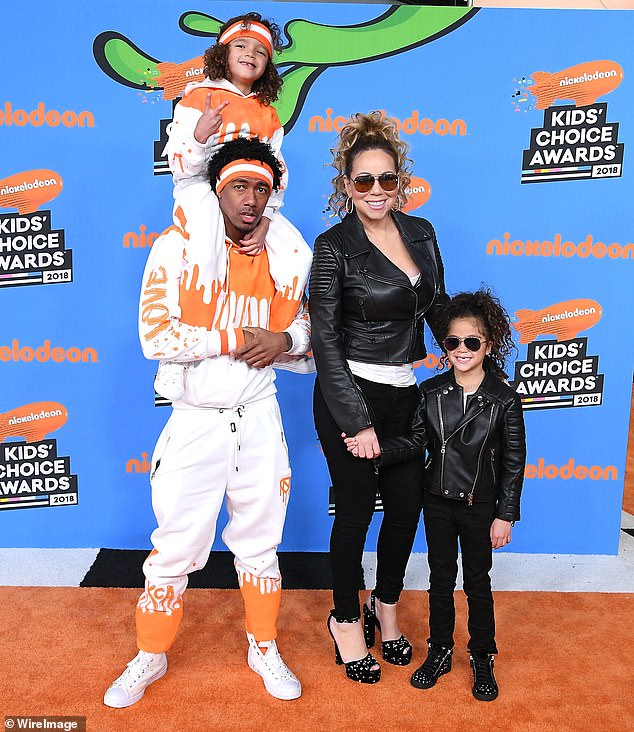 Two sets of twins: Nick shares his oldest children, 10-year-old twins Monroe and Moroccan Scott, with his ex-wife Mariah Carey; seen in 2018 in Inglewood, Calif.