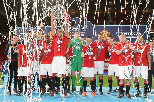 Petrucci captained Man Utd as they lifted the Premier Reserve League title at Old Trafford in 2012