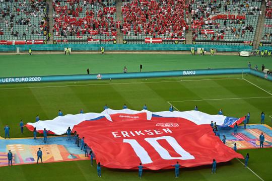 Christian Eriksen tribute ahead of Denmark's Euro 2020 quarter-final with Czech Republic