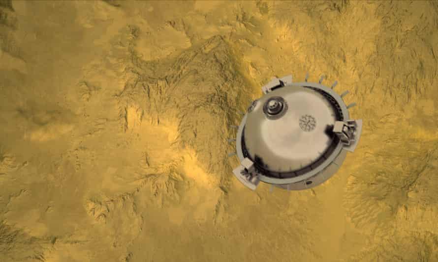 Nasa's Davinci+ will descend into the atmosphere.
