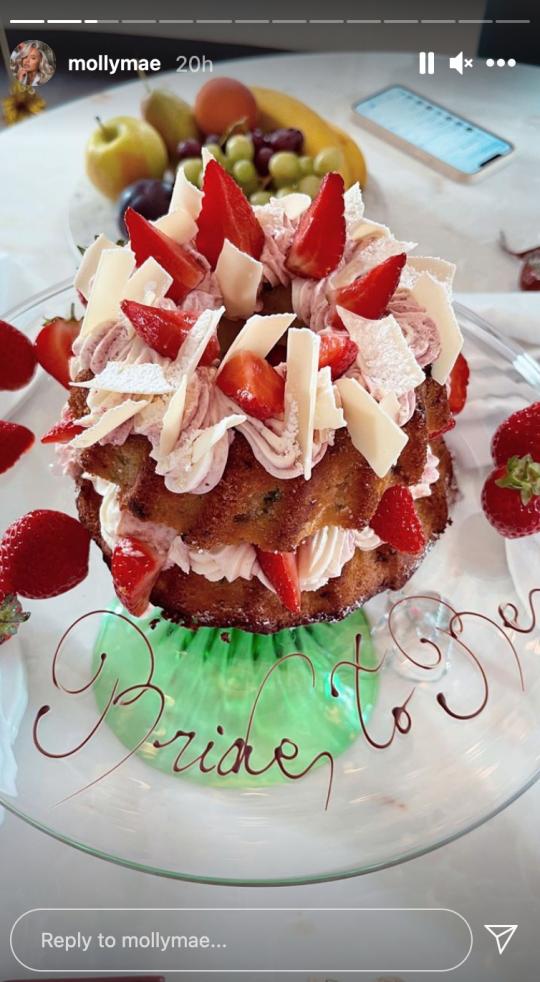 Molly-Mae Hague's mum Debbie's hen party cake