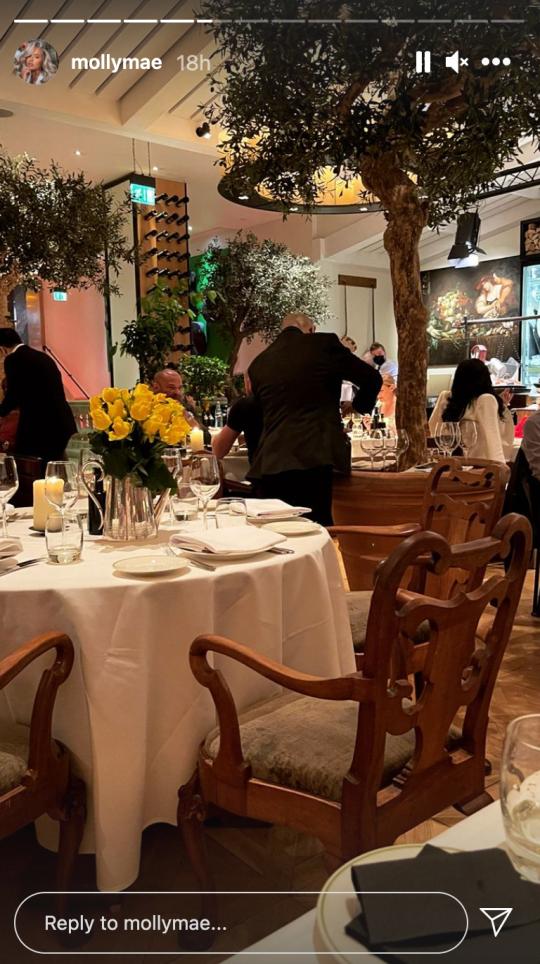 Inside the Novikov restaurant in London