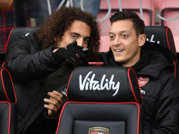 Matteo Guendouzi still keeps in touch with former Arsenal star Mesut Ozil