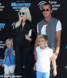 In August 2015 the duo - who share three sons - divorced following rumors the British musician had cheated with the family's nanny Mindy Mann. They are pictured here in June 2013