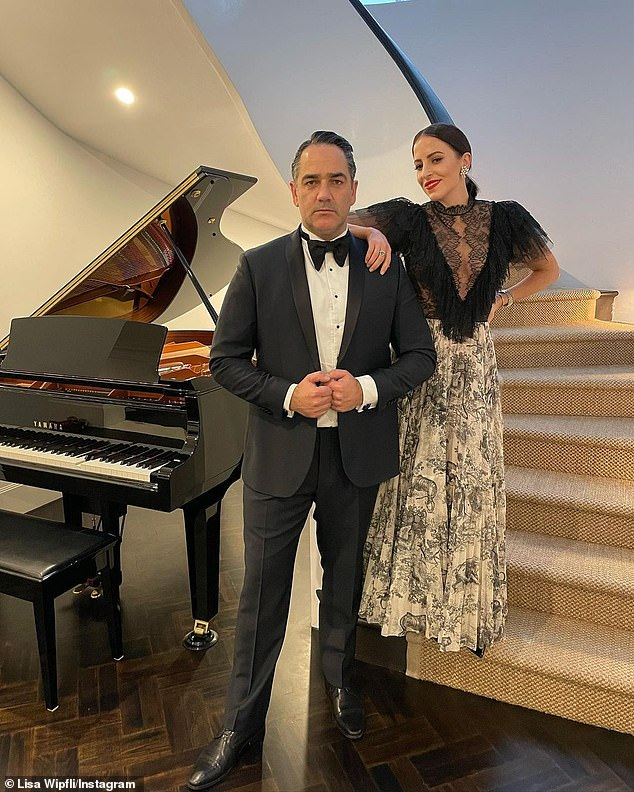 Wippa, above with his wife Lisa, has co-hosted 'Fitzy and Wippa' on Nova since 2011 and recently featured on the Nine Network's Celebrity Apprentice program