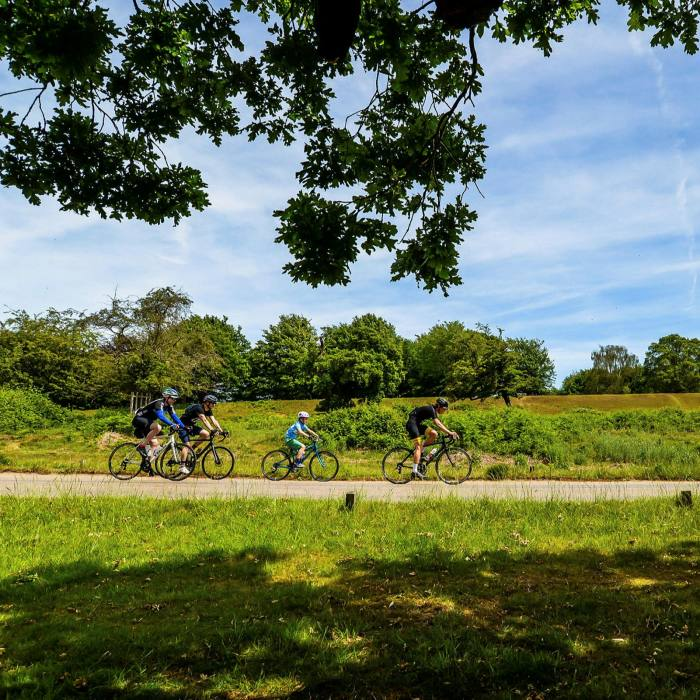 The route takes in a semi-circuit of Richmond Park