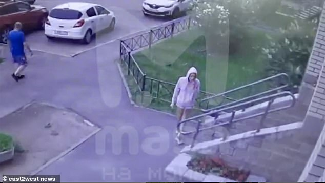CCTV showedKristina walking into the apartment block eating a bag of crisps shortly before she fell, with police now investigating the death