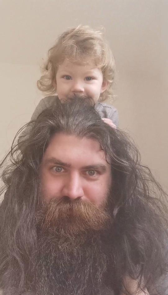 Aaron Sankey with his daughter Daya