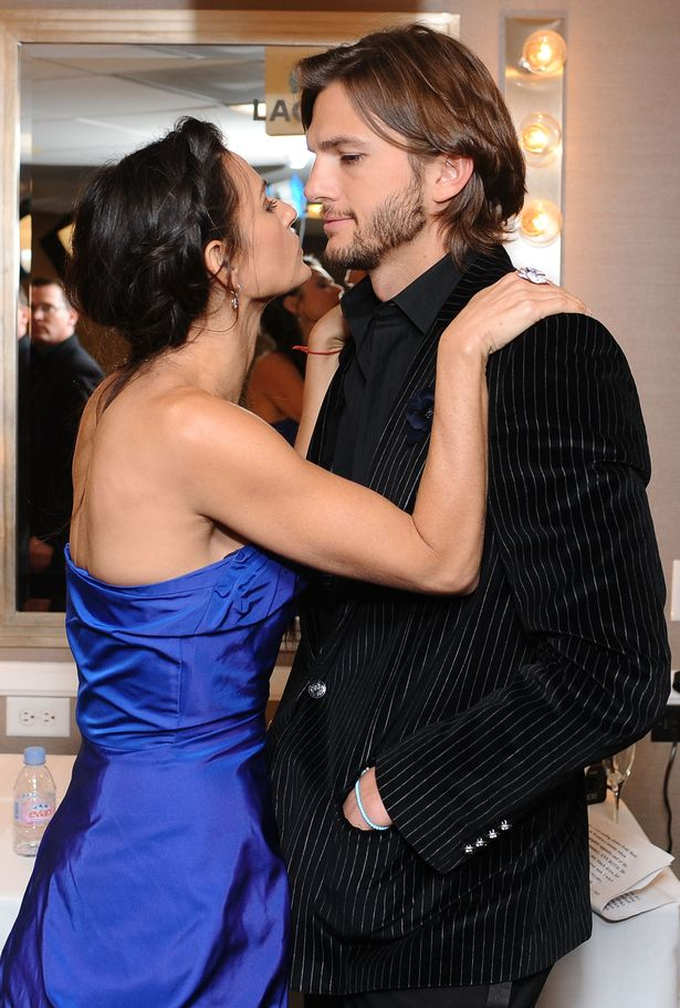 Ashton with Demi Moore