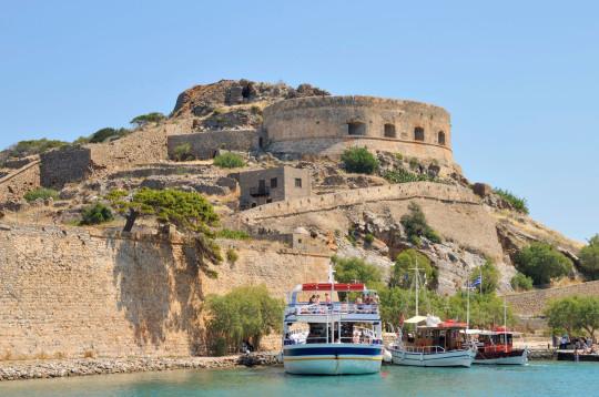 BBW12H Spinalonga Island (Kalidon), former leper colony, Crete, Greece, Europe. Image shot 05/2009. Exact date unknown.