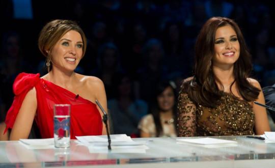 Judges Dannii Minogue and Cheryl Cole.. 'The X Factor' Live Show, TV Programme, London, Britain - 27 Nov 2010