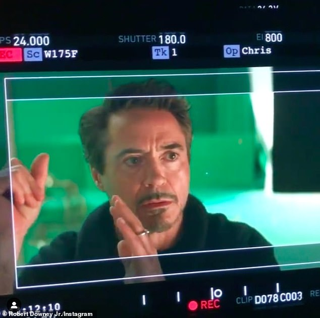 'I love you, 3000!' Robert's character Tony Stark/Iron Man heroically died defeating Thanos at the conclusion of Avengers: Endgame (pictured in 2018)