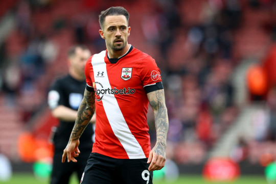 Danny Ings looks on during Southampton's Premier League clash with Leeds