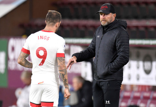 Danny Ings looks on during Southampton's clash with Burnley