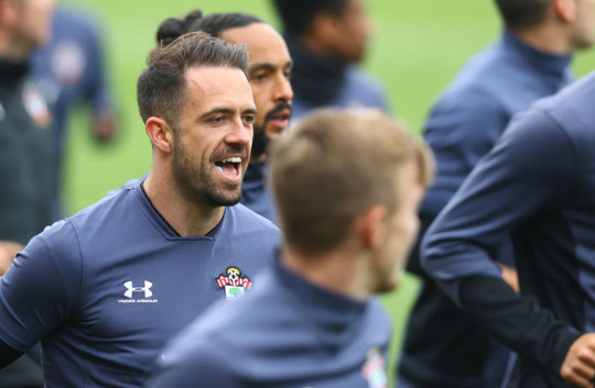 Danny Ings looks on in Southampton training
