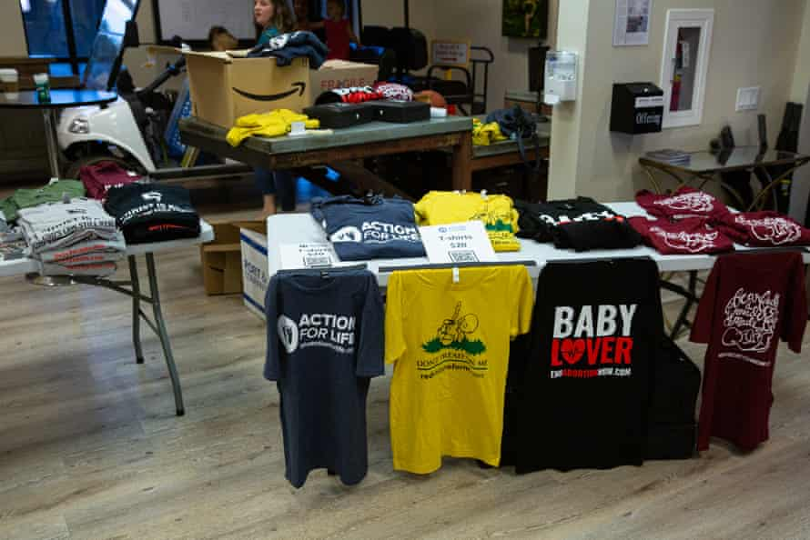 Shirts for sale at the OSA Conference at Desert Hills Bible church.