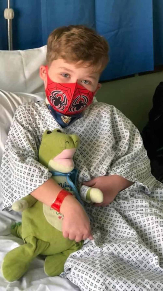 Mikey in hospital. PA REAL LIFE/COLLECT
