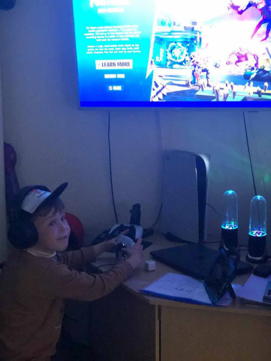 Mikey playing his PS5. PA REAL LIFE/COLLECT