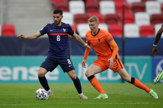 Houssem Aouar played for France at the European Under-21 Championship earlier this summer