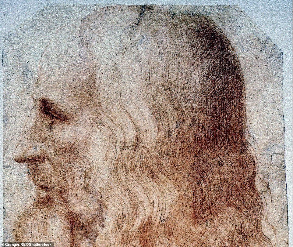 The researcher's tree began with Michele (born in 1331), and covered five family branches — including the one that yielded his great-great-great grandson Leonardo (pictured, born 1452)