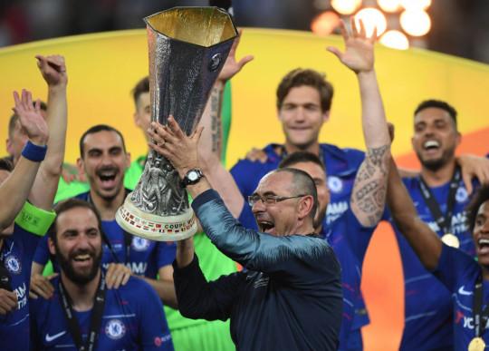Maurizio Sarri won the Europa League in his only season at Chelsea