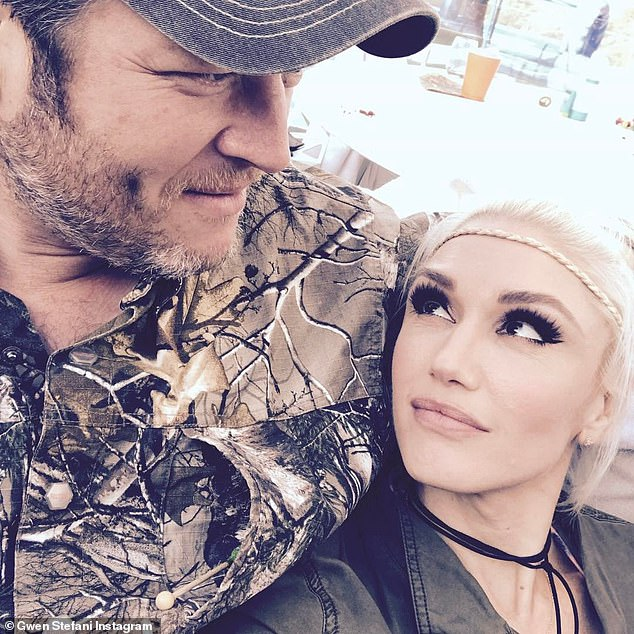 Matching: When on the ranch, Gwen wears camo and earth tones; seen here last year