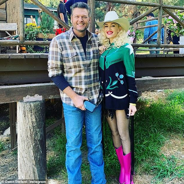 No place like home: The two are seen here all dressed up for a party at the ranch