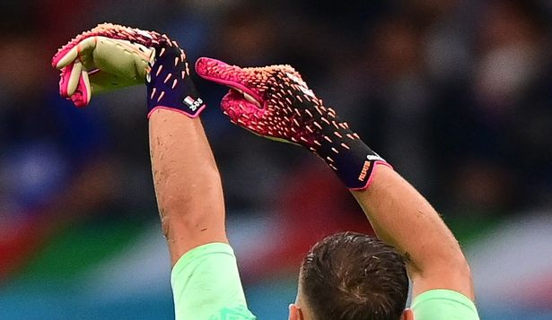 Donnarumma's spiked gloves.