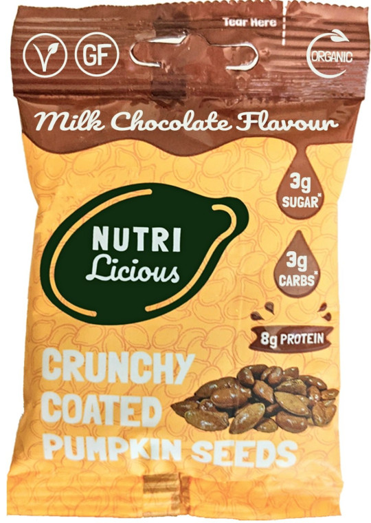 Nutrilicious Pumpkin Seeds - Milk Chocolate