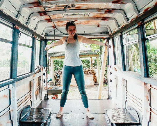 It took the couple seven months to renovate their minibus