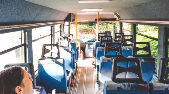 The couple spent lockdown renovating the minibus