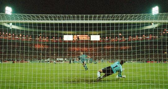 Gareth Southgate had his penalty saved at Euro 1996