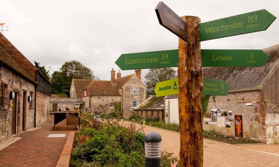 South Downs YHA is housed in a 14th-century flint farmstead