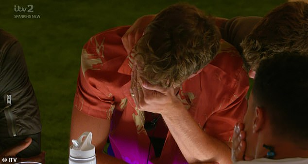 'Poor Hugo!' It comes after Hugo found himself in hot water on Tuesday's Love Island when a throwaway comment saw Faye and Sharon fuming at him - making him cry