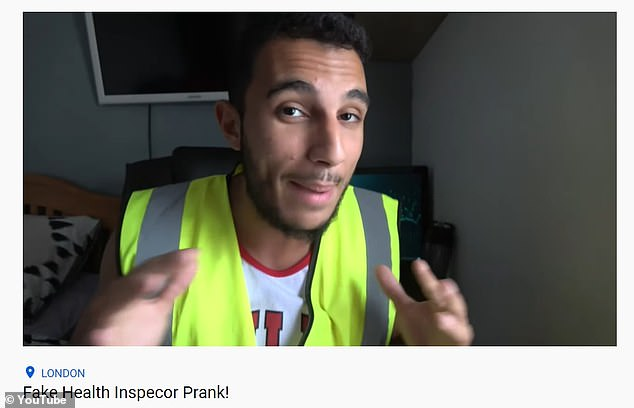 Pranks:The YouTuber currently has 11,800 subscribers on his channel where he regularly posts prank videos