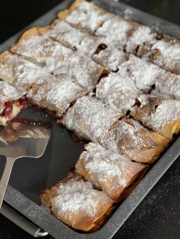 Tom Vazdar's sweet cherry strudel.