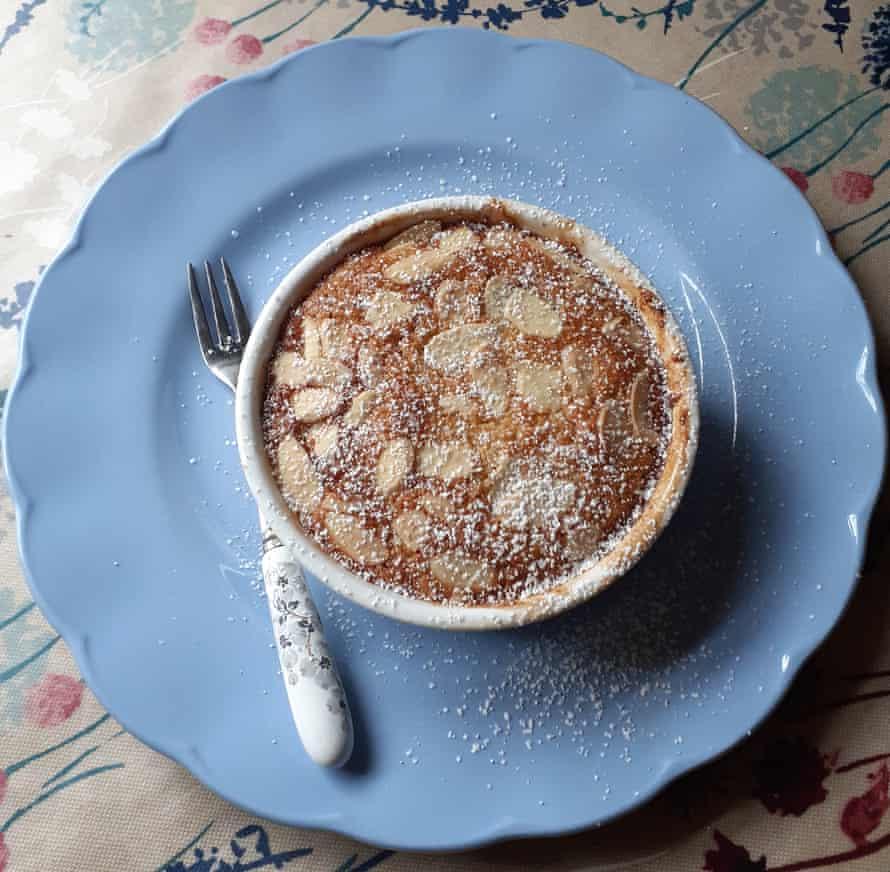 Caroline Lisle''s gluten-free cherry and almond sponge pudding.
