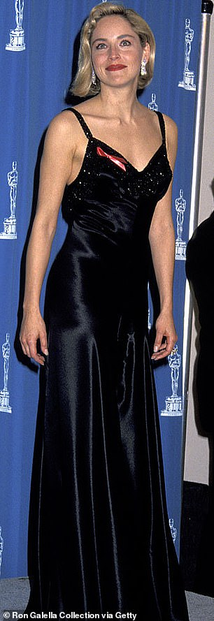 Seen here at the Oscars in 1992 around the time that Basic Instinct came out