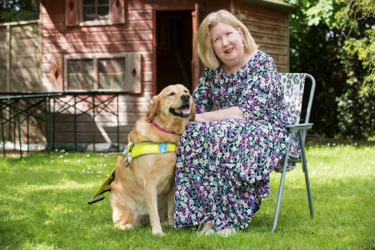 Jane and guide dog Rosie